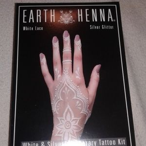 Free People Accessories Earth Henna Lace And Silver Glitter Tatto
